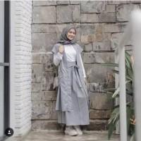 Set Hijab Setelan Muslim Remaja 3 Item Rok Outer Inner Baju Lebaran