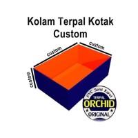 Kolam Terpal Kotak Custom ORCHID PVC