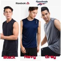 Reebok Tanktop Man Baju Singlet Olahraga Pria Cowok Original Lari Run