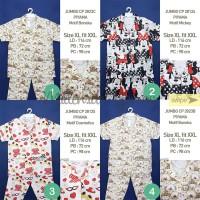 Piyama Size XL-XXL Jumbo Wanita Motif Katun Premium Japan JBCP 2853