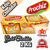 Keju Prochiz Gold Cheddar Cheese Olahan 2 kg