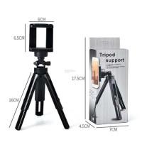 Tripod support mini handphone extandeble holder u