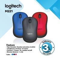 Mouse Logitech Wireless M221 Silent Mouse - Garansi Resmi 3 Tahun - Hitam