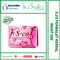 S.CO Merah Night Use/ SCO Merah Bio Herbal Sanitary Pad
