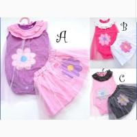 Baju Setelan Anak Bayi Perempuan Stelan Rok Set Slabber Tutu Flower