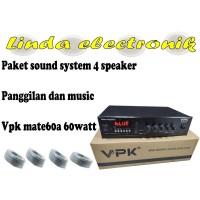 paket sound system panggilan dan musik vpk mate60a 60watt dan 4 toa