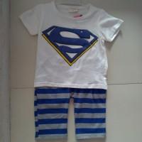 Setelan Kaos Anak Superman