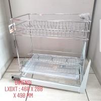 Taco Rak Botol & Piring/Kitchen set rack Stainless Steel HW-006SS