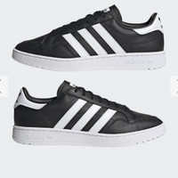 sepatu sneakers adidas team court original black white EF6048