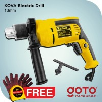 Kova Electric Drill Bor Tangan Listrik 13 mm Reversible