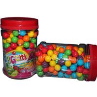 Permen Karet Bola Mini PLayGum Bubble Gum Tutti Frutti Toples 200 pcs