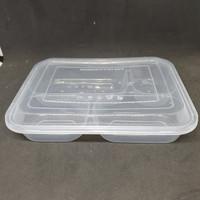 Thinwall Bento Sekat / Kotak Makan Mika Plastik isi 25 pcs