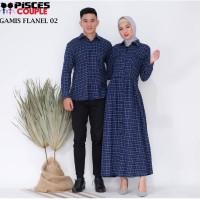 Couple Dress Flanel 02 - Kemeja Distro Bandung Murah Berpasangan