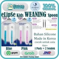 Elipse Kids Weaning Spoon Set / Sendok Bayi / Sendok Silicone