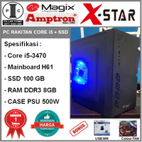 Komputer PC Rakitan Core i5-3470/DDR3 8GB/SSD 100GB/H61/PSU 500W [S54]