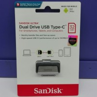 flashdisk OTG USB to type C Sandisk 32 GB original garansi resmi 5 th