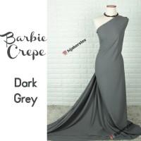 HijabersTex 1/2 Meter Kain BARBIE CREPE Dark Grey