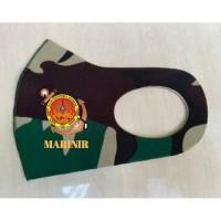 Masker Korea Bahan Kain Scuba Loreng TNI Malvinas Logo Marinir