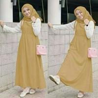 setelan hijab maxi dress terbaru jumpsuit gamis lebaran