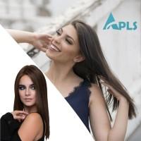 Wig / Rambut Palsu Wanita Model Lurus Panjang Natural Ukuran 55Cm
