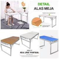 Meja Lipat Koper HPL Serbaguna / Meja Lipat Portable /meja serbaguna
