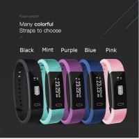 Langkah/Jam/Getaran ID115 F0 SmartWatch untuk Fitness Tracker dengan