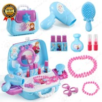Disney Frozen Makeup Set Simulation Dresser Toy Pretend Play