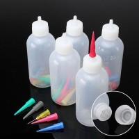 Plastik 5Pcs Botol Dispenser Saus / Salad / Kecap / Cuka Bahan