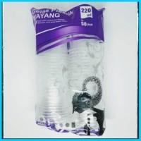gelas plastik wayang 220 ml cup gelas cup plastik cup