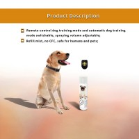 Stop Dog Spray Training Collar with Remote Control Rechargeable Dog