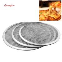 Pizza Jaring Panci Bulat Bahan Aluminium Tebal Anti Lengket untuk