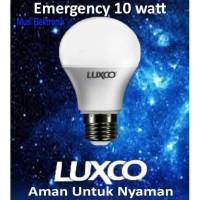 Lampu LED 10W EMERGENCY mati lampu fiting biasa berkualitas merk LUXCO