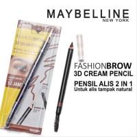 Maybelline Fashion Brow 3D Cream Pencil 12H Tahan Luntur