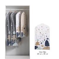 Cover Baju Gantung Tempat Pakaian Cloth Dust Cover Motif 60cm x 90cm