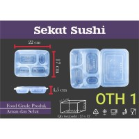 Kotak Makan Sushi / Sushi Box Sekat 4 / Thinwall Containers (25 pcs)