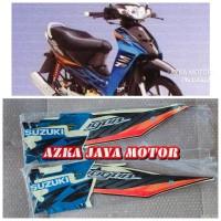 Striping Sticker Suzuki Shogun SP 125 lama warna biru hitam