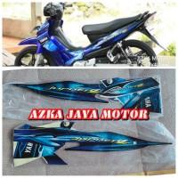 Striping sticker Fullbody Yamaha Jupiter Z burhan Warna biru hitam 08