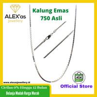 kalung emas putih italy santa perhiasan mas 750% gold original