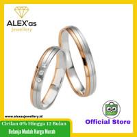 cincin tunangan/nikah/kawin emas kuning/putih perhiasan mas 75% couple