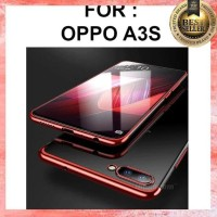 CASING OPPO F7 - OPPO A3S SILICON TPU PLATING SOFT CASE - OPPO F7, BLACK
