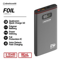 New Delcell FOIL Power Bank 10800mAh-Real Capacity Polymer Battre