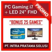 "PC Design / Gaming - i7-3770 + RAM 16GB + GTx1050Ti 4GB + LED 22"" FHD"