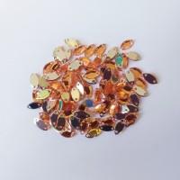 Mata Jahit Bentuk Daun Mini Warna Orange (Isi 100)