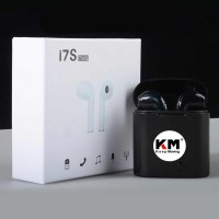HANDSFREE HEADSET BLUETOOTH I7S WIRELESS BLUETOOTH HITAM