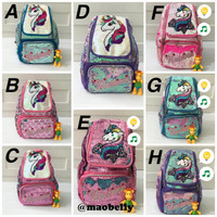 Tas Anak Perempuan Sequin Unicorn / Backpack Sequin Unicorn / MB019 - A Multicolor G