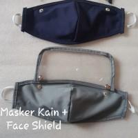 Masker Kain + Face shield Non Medis