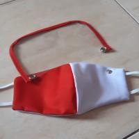Masker Kain + Face shield Merah-Putih