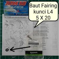 baut fairing kecil 5mm / baut 8 2cm kunci L ninja 250 ori 92154-0216