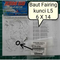 baut fairing besar 6mm / baut 10 kunci L ninja 250 original 92154-3763