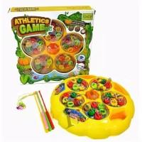 Kado Mainan Anak Pancingan Ikan Athletics Game 1 set isi 5 kolam kecil